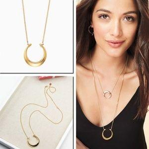 ::Stella & Dot [GOLD] Double Horn Pendant Necklace